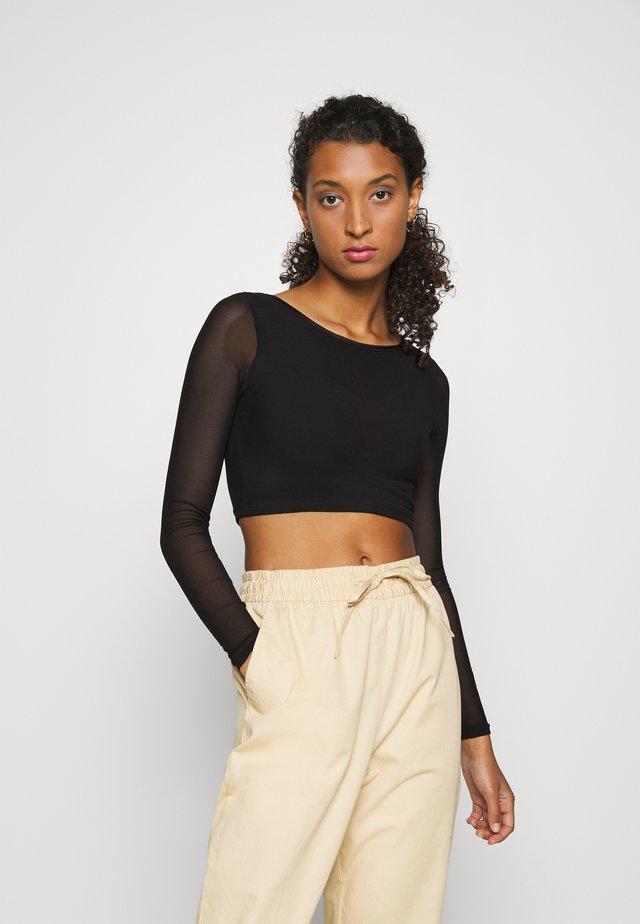 TRILLUM - T-shirt à manches longues - black