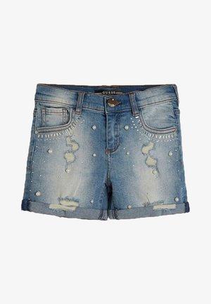NIETEN-JEANSSHORTS - Denim shorts - himmelblau