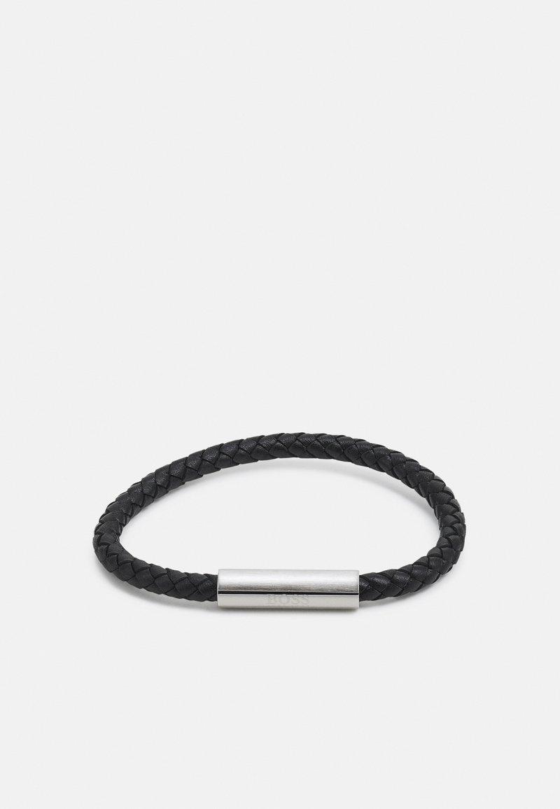 BOSS - BRAIDED - Bracelet - black