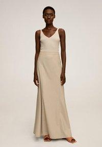 Mango - TINTO-A - Maxi skirt - beige - 1
