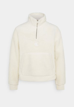 SHERPA MOCK NECK ZIP - Bluza z polaru - soft cream