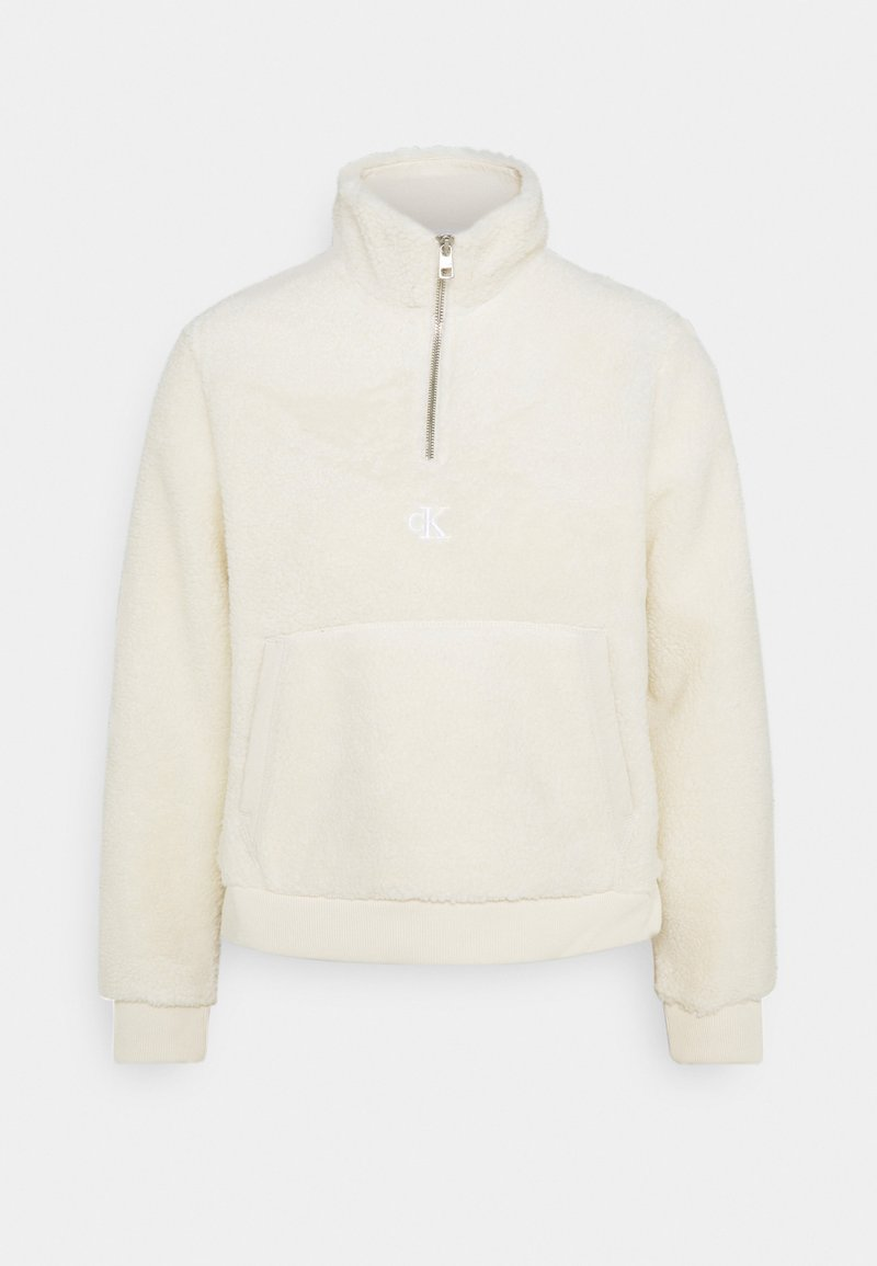 Calvin Klein Jeans - SHERPA MOCK NECK ZIP - Sweat polaire - soft cream