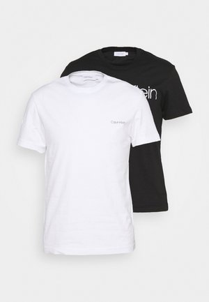 MIXED LOGO 2 PACK - T-shirt med print - black