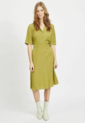 Shirt dress - green olive