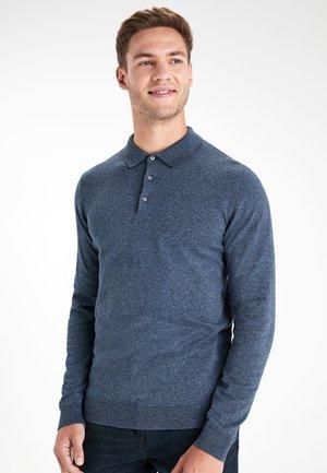 Polo shirt - mottled dark blue