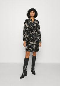 Vero Moda - V-NECK  - Shirt dress - black - 0