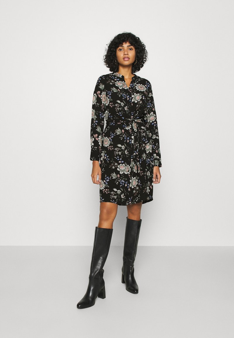 Vero Moda - V-NECK  - Shirt dress - black