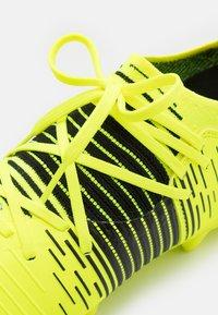 Puma - FUTURE Z 3.1 FG/AG JR UNISEX - Moulded stud football boots - yellow alert/black/white - 5
