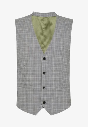 PRINCE CHECK - Suit waistcoat - light grey