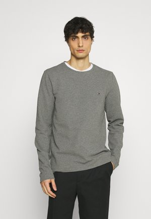 WAFFLE LONG SLEEVE TEE - Long sleeved top - dark grey heather
