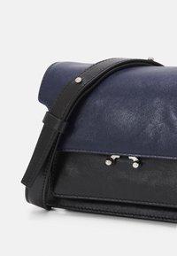 Marni - TRUNK SOFT MINI UNISEX - Across body bag - navy blue/black - 3