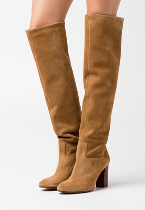 BRIE BOOTS DRESS  - Høye støvler - tan