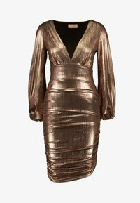 Club L London - PLUNGE RUCHED DRESS - Cocktail dress / Party dress - bronze - 5