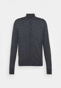 SUPERIOR  ZIP THRU JACKET - Vest - dark grey heather