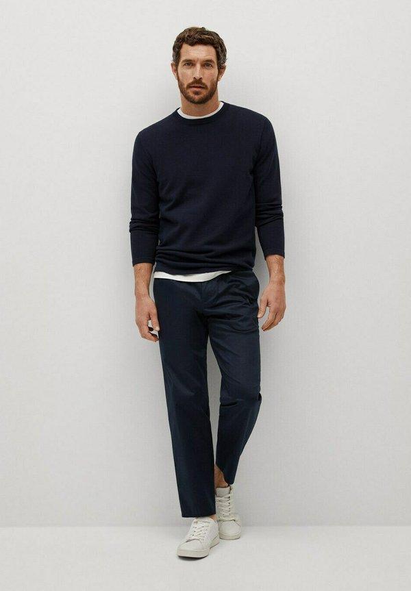 Mango AVENA - Sweter - black/czarny Odzież Męska OFYY