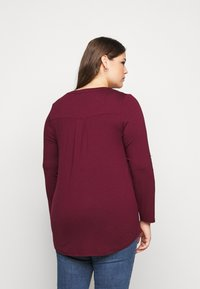 Evans - Long sleeved top - wine - 2