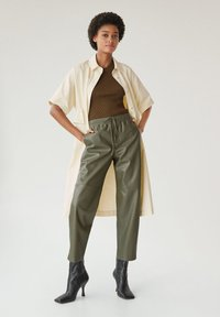 Mango - APPLE - Kalhoty - kaki - 1