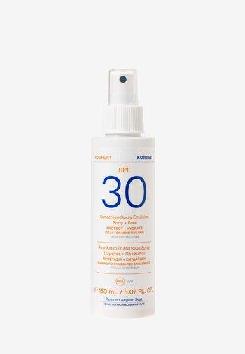YOGHURT SUNSCREEN SPRAY EMULSION BODY + FACE SPF30 - Sun protection - -