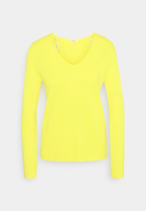 VNECK - Jumper - smooth yellow melange