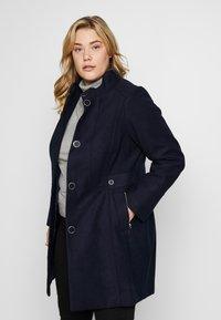 Evans - FUNNEL NECK COAT - Zimní kabát - navy - 0