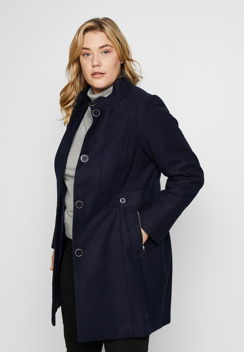 Evans - FUNNEL NECK COAT - Kåpe / frakk - navy