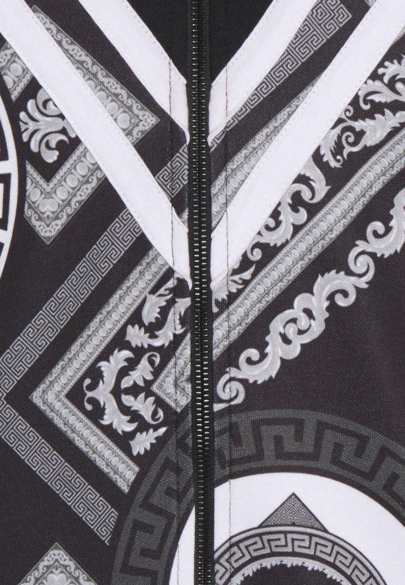 Criminal Damage CHEVRON TRACK - Strickjacke - black/white/schwarz 3vDm1F