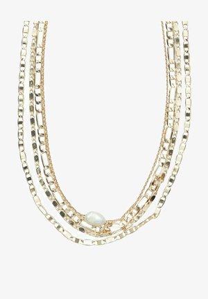 4 PACK - Necklace - gold colour