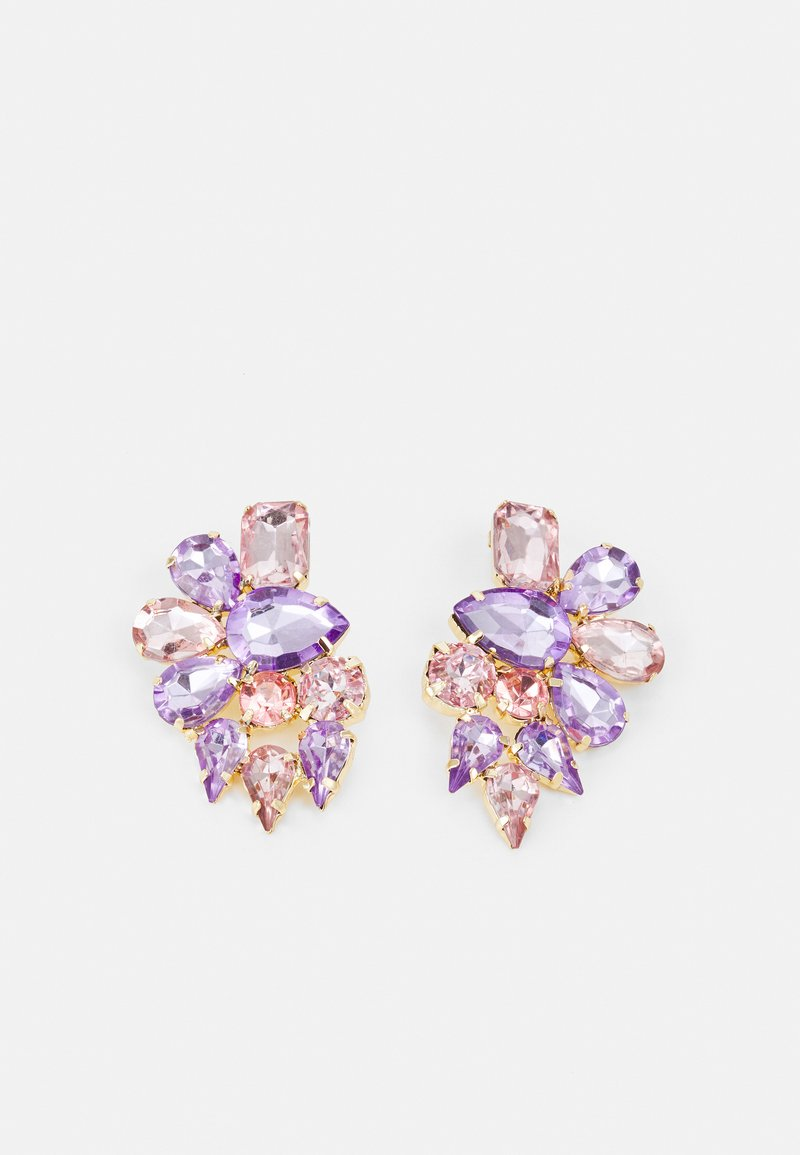 Pieces - PCLEA EARRINGS - Pendientes - gold-coloured/rose