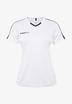 PROGRESS CONTRAST  - T-shirts med print - white/black