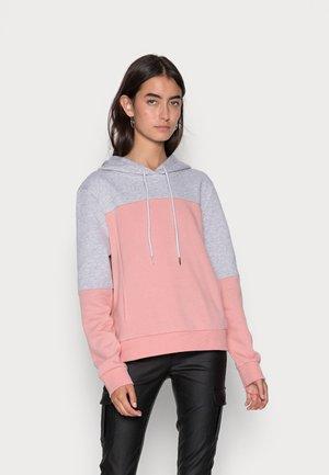 ONLINC JOEY EVERY BLOCKHOODIE - Sweatshirt - light grey melange/rosette