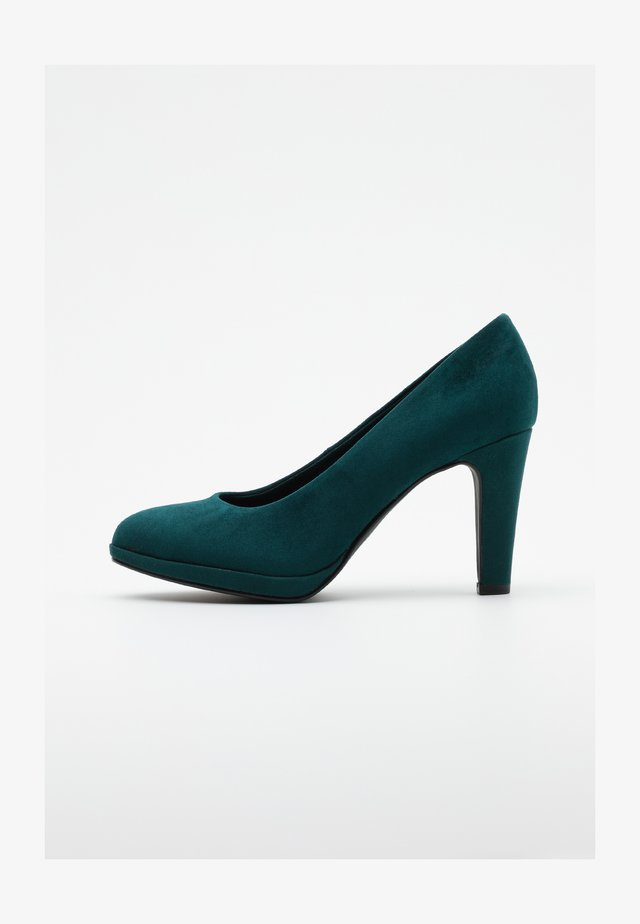 COURT SHOE - High heels - petrol
