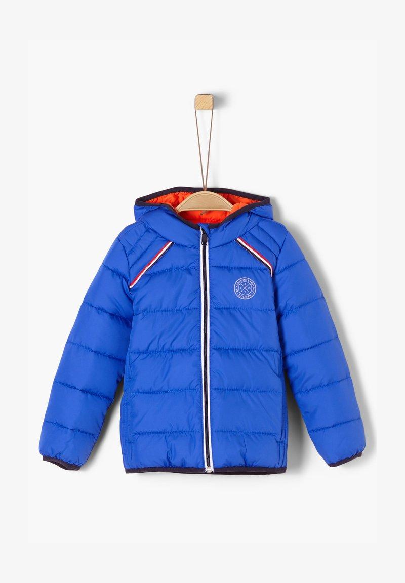 s.Oliver - MIT TAPE-DETAIL - Winter jacket - blue