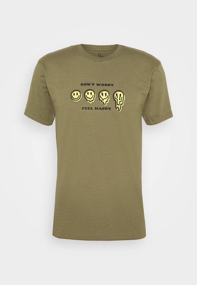 MELTER  - T-shirt con stampa - military olive