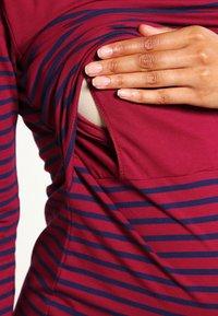 JoJo Maman Bébé - BRETON - Vestido ligero - bordeaux/navy stripe - 4