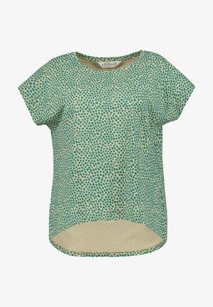 Print T-shirt - smaragdgrün