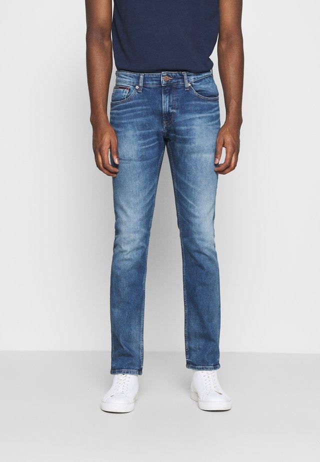 SCANTON SLIM - Slim fit jeans - light-blue denim