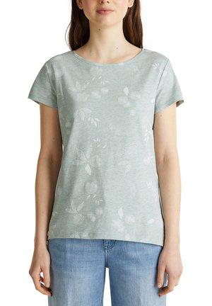 MELIERTES PRINT-SHIRT MIT BIO-BAUMWOLLE - T-Shirt print - light aqua green