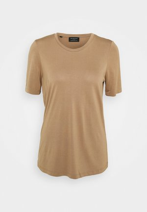 SLFELLA TEE SEASONAL - Basic T-shirt - tigers eye