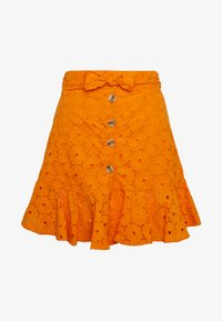 Glamorous - ANGLAIS MINI SKIRT - Falda acampanada - bright orange - 3