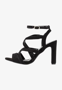Simply Be - WIDE FIT GENEVA - High heeled sandals - black - 1