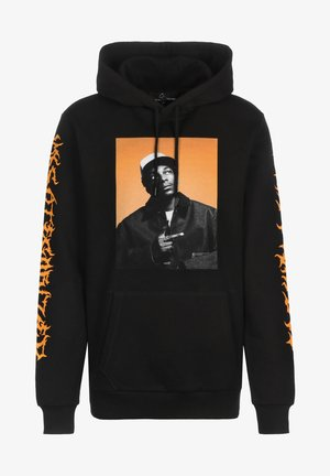 HOODIE - Hoodie - black/orange
