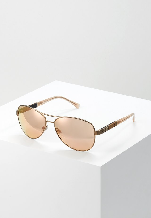 Sunglasses - matte gold