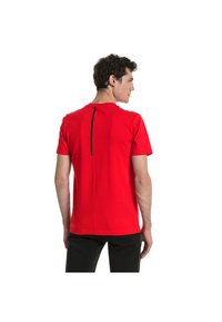 Puma - FERRARI HERREN BIG SHIELD  - T-Shirt print - red - 1