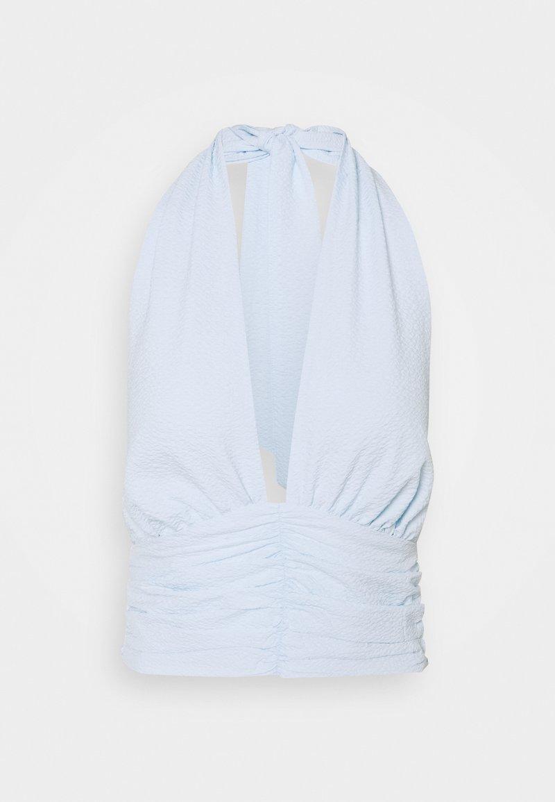 Gina Tricot - MIA HALTERNECK  - Blouse - light blue