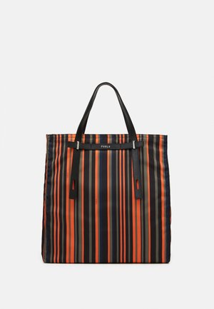 MAN GIOVE SHOPPER TESSUT UNISEX - Shopping Bag - toni orange