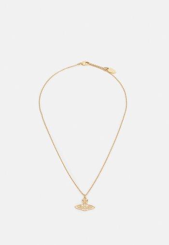 THIN LINES SHORT FLAT ORB PENDANT UNISEX - Naszyjnik - gold-coloured
