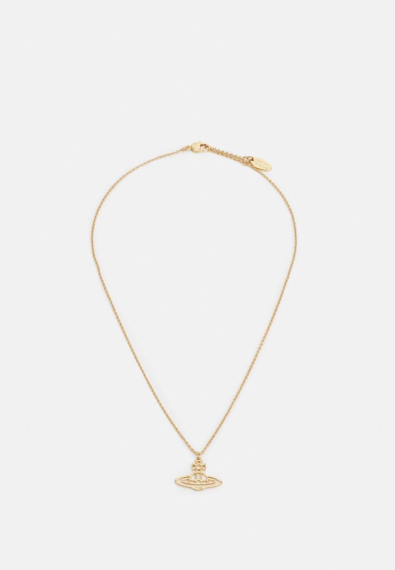 Vivienne Westwood - THIN LINES SHORT FLAT ORB PENDANT UNISEX - Necklace - gold-coloured