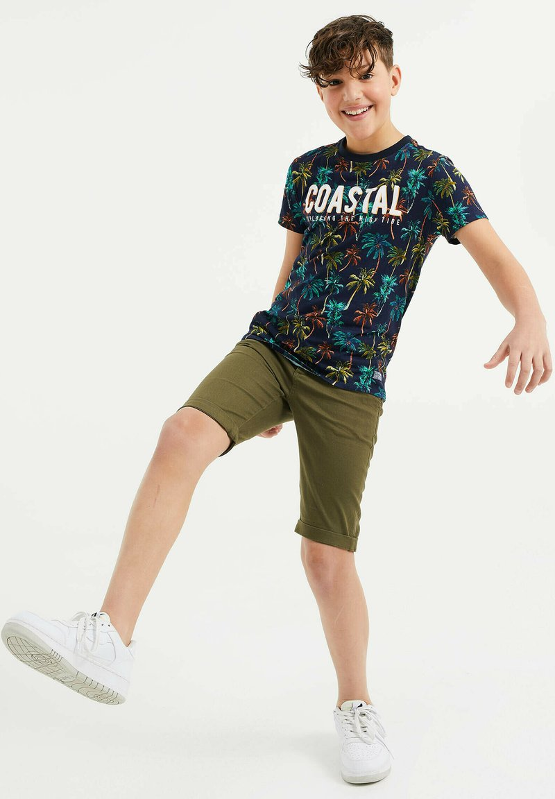 WE Fashion - MET PALMBOOMDESSIN - T-shirt con stampa - multi-coloured