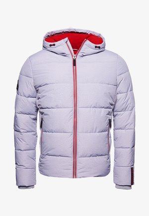 SPORTS PUFFER - Veste d'hiver - grey marl/risk red