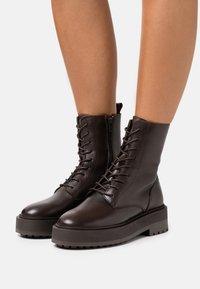 Zign - Platform ankle boots - brown - 0